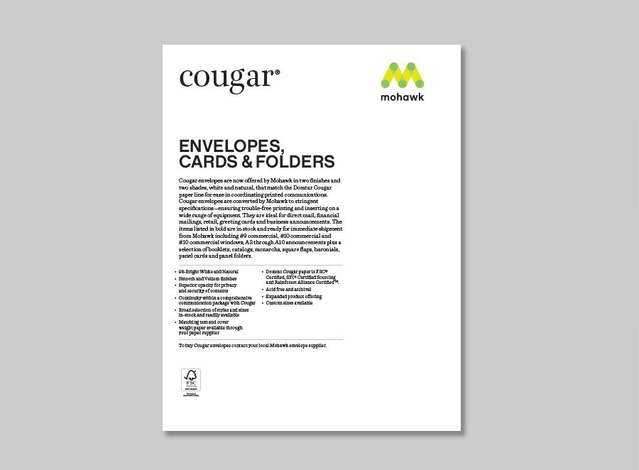 Cougar envelopes mohawk connects cougar envelopes m4hsunfo