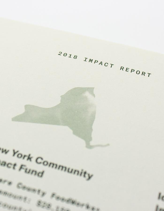 Impact Report close-up