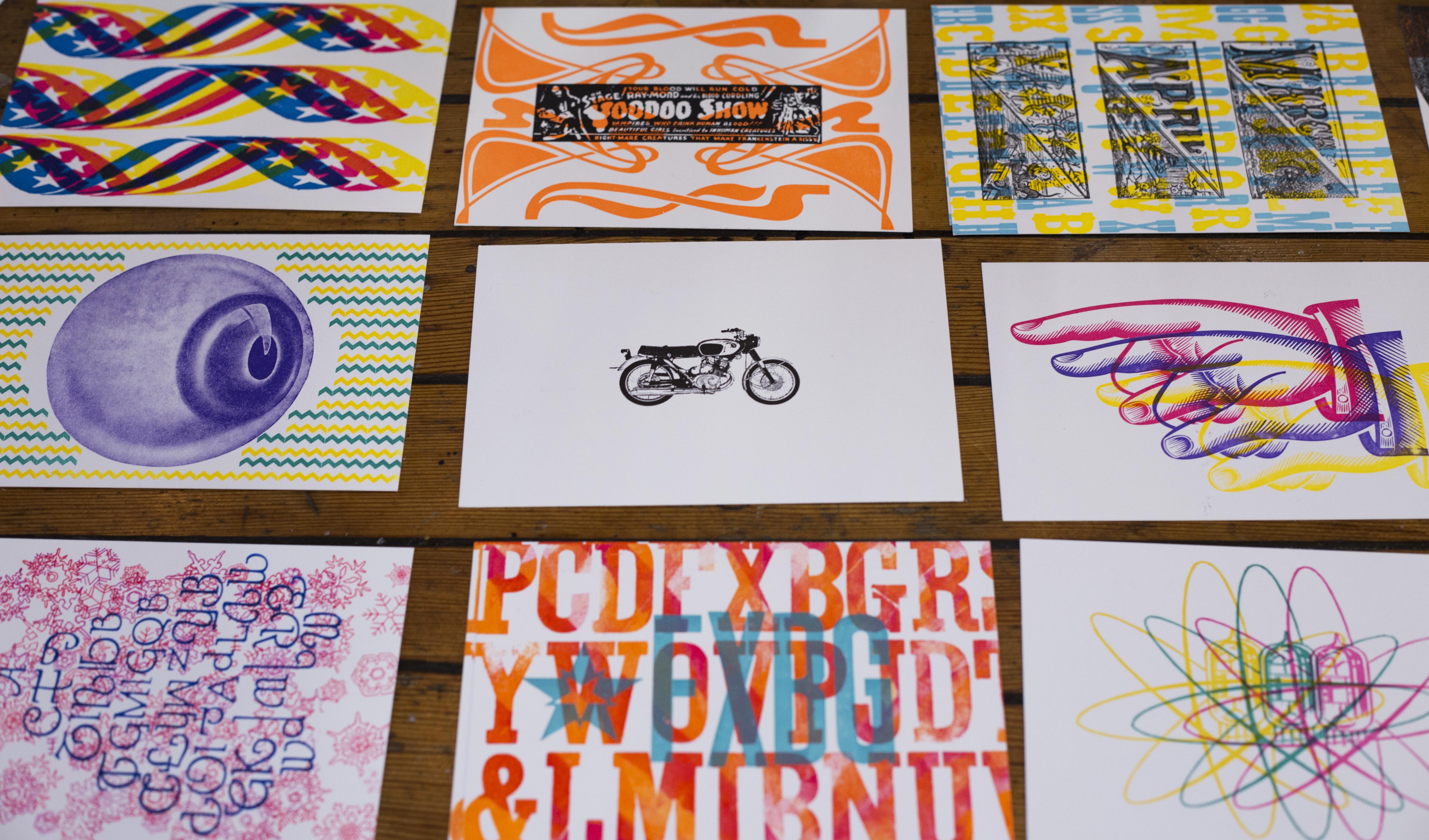 Letterpressed postcards