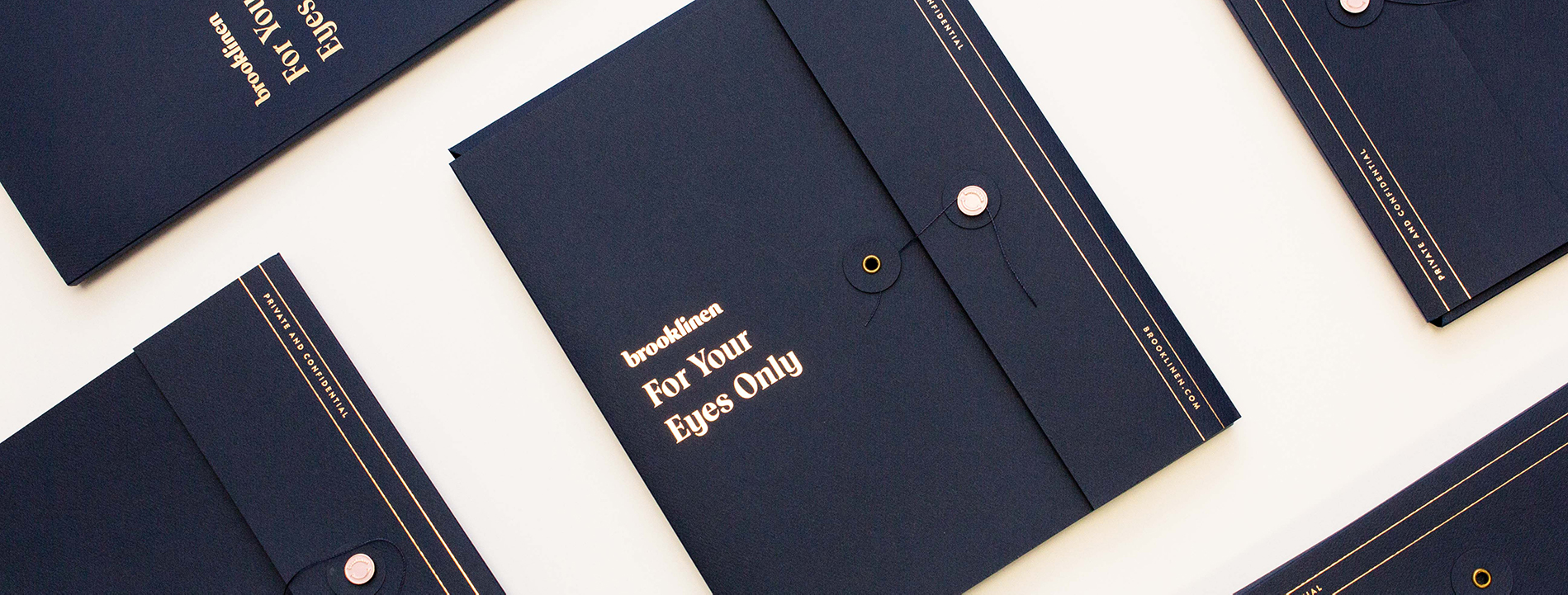Brooklinen For Your Eyes Only collateral