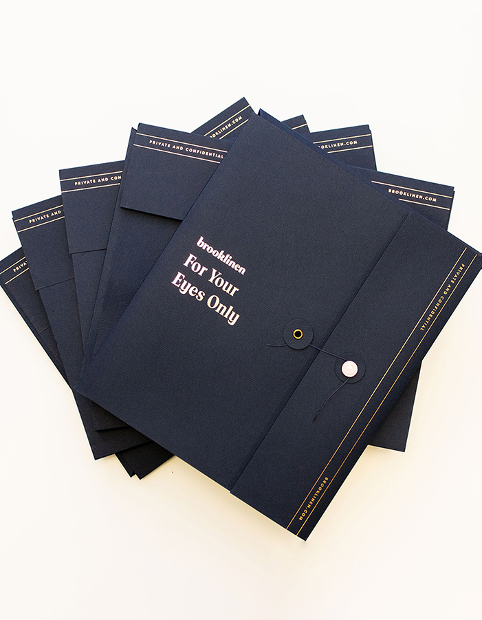 Stack of Brooklinen envelopes