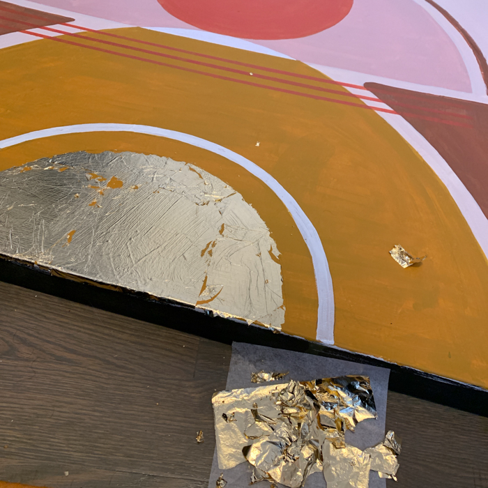 materials - gold leaf on painting