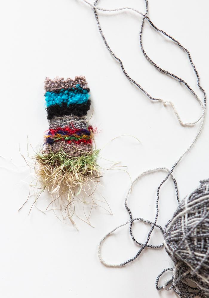 a tiny weaving