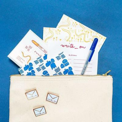 GIVEAWAY: National Letter Writing Month (April) is right around the corner. Join us, @eggpress, @helloluckycards and @sakuraofamerica and take the #Write_On Challenge to write 30 letters in 30 days. . We're giving away 3 starter kits to help you get going. Comment below for your chance to win. We'll announce winners on March 16th! . Also, be sure to check out writeoncampaign.com to see the other tools available to help you gear up for the challenge. . #LetterWriting #SnailMail #NationalLetterWritingMonth #Letters #Mail