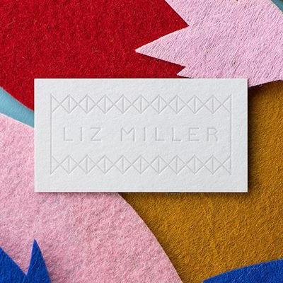 Now, how about this bold letterpress business card print on Mohawk Loop Smooth White 18pt? Yes please! . @castirondesign worked with installation artist, @lizlenoremiller, to create an identity and website to showcase her extensive catalog of intricate, bold, and colorful work. Click the link in our bio to find out more. . #Paper #MohawkPaper #MakeGoodGreat #IdentityDesign #Identity #Design #Texture