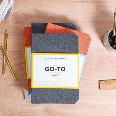 GIVEAWAY: Say hello to the Go-To Notebook from @chroniclebooks! . This notebook has it all: Project planning and tracking pages, lay-flat binding, a storage pocket, a cloth cover and comes in a choice between dotted or lined pages (you get to decide!). All pages are printed on a carefully chosen combination of Mohawk Superfine and Via. . Click the link in our bio for your chance to win a notebook!