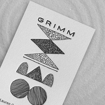 It's Friday! Let's grab a cold one with @grimmales and nerd out about how 👌 their business cards are. . Printed by @piggybackletterpress on Crane's Crest. . #HotOffThePress #CranesCrest #Cotton #CottonPaper #BusinessCard #Design #Print #AskForLettra