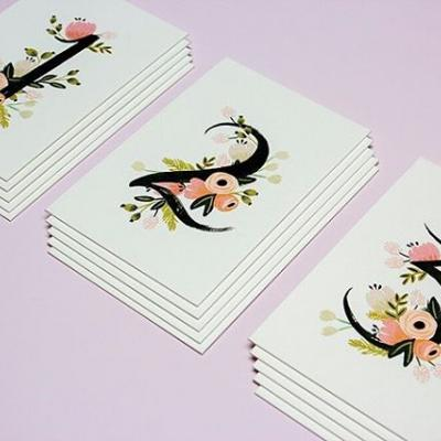 No frames required with these table cards from @riflepaperco. The cards are printed on Crane's Lettra Pearl White 220 DTC, making them sturdy and beautiful for your next momentous occasion. . #Cotton #CottonPaper #TableCard #Design #Print #AskForLettra #RiflePaperCo