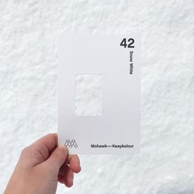🎶It's beginning to look a lot like...Keaykolour's Snow White. 😏 . How much snow did you get from #WinterStormAvery? . #Keaykolour #Paper #Snow