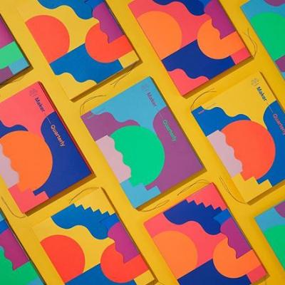 Have we mentioned how much we love colored paper? It's a transformative material with the power to influence your work in unexpected ways. Just take a look at the latest quarterly to see what's possible. . #WhatWillYouMakeToday? #MohawkMakerQuarterly #MakerQuarterly #Paper #ColoredPaper #Release #Launch #Inspiration #Design #Materials
