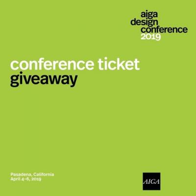 GIVEAWAY: April is fast approaching, which means that the #AIGADesignConf is right around the corner. Have you had a chance to snag your ticket yet? No? Want to win one? We thought so.  We're giving away one full ticket to the conference happening in Pasadena, CA from April 4th-6th. For your chance to win, like this post and tag two friends in the comments below. The lucky winner will be announced on Monday, March 25th.  #Giveaway #AIGA #Design #Ticket #FreeTicket #DesignConference #AIGADesign #GraphicDesign