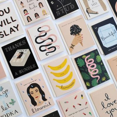 Elicia Castaldi's work as @girlwknife is a cut above. Her cards are undeniably feminine, authentic and unapologetic — a natural repository for the sentiments of the inimitable 21st-century woman.  Head over to the Mohawk Blog to learn more about her inspirations and why she chose Mohawk papers as the medium for her greeting cards (link in bio). #girlwknife #greetingcards #cards #illustration #design #paper #stationery #mohawkpaper