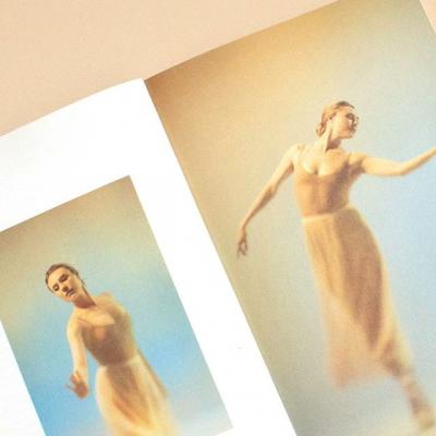 """George Balanchine and Lincoln Kirstein formed New York City Ballet with the goal of producing and performing a new #ballet repertory that would reimagine the principles of classical #dance.  Today, the company remains dedicated to their vision — the 2019-20 @nycballet brochure introduces their season concept, based on a quote from George Balanchine himself that refers to #dancers as """"Poets of Gesture."""" The overall feel is light and airy, which the #photography emulates through subtle pastel gradients paired perfectly with silky, distinct #Mohawk Via Satin 🎀"""