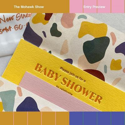 The Mohawk Show Entry Preview: Terrazzo-Inspired Baby Shower Invitations by @inkmeetspaper.  Submit your work today! (Link in bio)  #TheMohawkShow #DesignCompetition #CallForEntries #CallForSubmissions #Design #GraphicDesign #Print #PrintDesign #WhatWillYouMakeToday? 6d