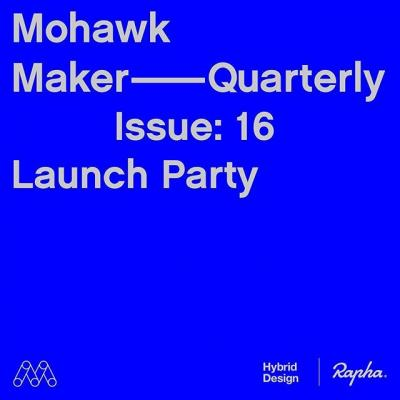 Come celebrate the launch of the Mohawk Maker Quarterly Issue No. 16. with us, @hybriddesignsf and @rapha_n_america San Francisco tonight! This issue is about community, which features Rapha Clubhouses as an example of dedicated spaces for communities. Hear about why we think Clubhouses are so important for cyclists, and how they compare to other dedicated spaces in the world. . Come hang out and get a copy of the current issue. Link in bio to RSVP.