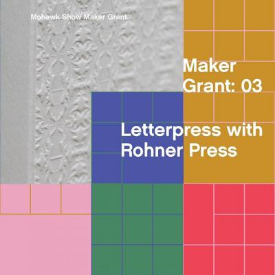 Since 1997, @rohnerpress has been a collaborative printing partner working at the intersection of design, hand-craftsmanship and full-scale manufacturing, which is why we are honored to call them a Mohawk Show Maker Grant.  Through the alchemy of a timeless printing technique and the best materials available, you could work with Rohner Press to create something unique and exceptional using Letterpress.  Enter your work into #TheMohawkShow today for a chance to win!