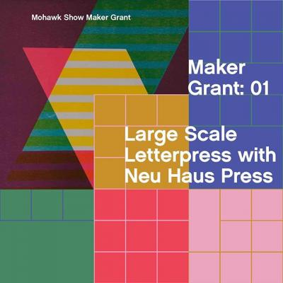 #TheMohawkShow is about more than recognition—we want to help amazing designers create more amazing work. The Mohawk Show Maker Grants give back more than just a line on your resume, they give you the opportunity to make more for making's sake, not for a client's RFP. . We are excited to announce that @neuhauspress is one of The Mohawk Show's Maker Grants. Neu Haus Press has produced letterpress tour posters for noteworthy acts such as Billie Eilish and Death Cab for Cutie, but the studio is most known for their Alpha-Blox series. By re-envisioning the font in large woodblock form and by printing on his Vandercook 232P, Neu Huas Press has created billboards as large as 14x20in. . Could Neu Haus' next billboard feature your design? Enter your work into The Mohawk Show today for a chance to win. . #DesignCompetition #CallForEntries #CallForSubmissions #Design #GraphicDesign #Print #PrintDesign