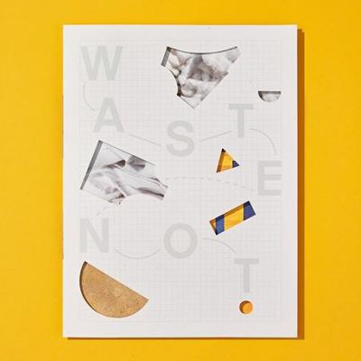 """The article """"Waste Not"""" found in Issue No. 15 of the #MohawkMakerQuarterly features four companies using waste as their primary input material for their products. . To provide a material reference to the content, we printed the article on recycled paper made from 100% post-consumer waste and utilized die cuts to further reveal the dimensionality of a simple folded sheet of paper. . Click the link in our bio for a look back at this article."""